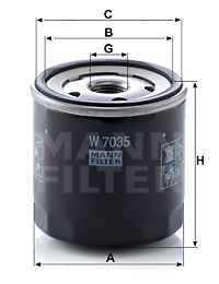 Filtre a huile MANN-FILTER W 7035 (X1)