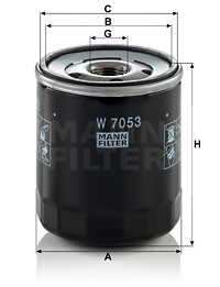 Filtre a huile MANN-FILTER W 7053 (X1)