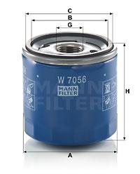 Filtre a huile MANN-FILTER W 7056 (X1)