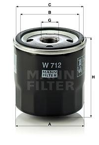 Filtration MANN-FILTER W 712 (X1)