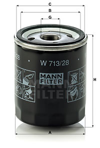 Filtre a huile MANN-FILTER W 713/28 (X1)