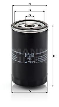 Filtration MANN-FILTER W 719/1 (X1)