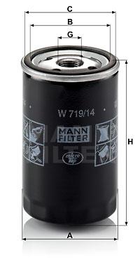 Filtre a huile MANN-FILTER W 719/14 (X1)