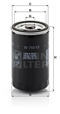 Filtre a huile MANN-FILTER W 719/15 (X1)