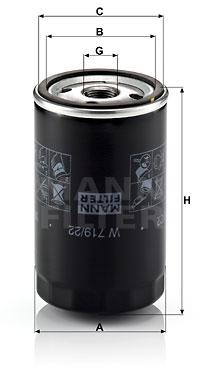 Filtre a huile MANN-FILTER W 719/22 (X1)