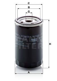 Filtre a huile MANN-FILTER W 719/29 (X1)