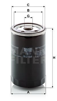 Filtration MANN-FILTER W 719/4 (X1)