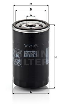 Filtre a huile MANN-FILTER W 719/5 (X1)