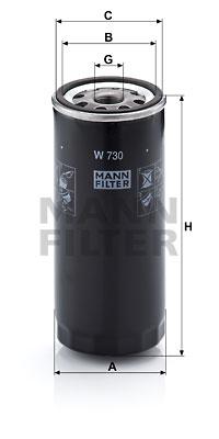 Filtre a huile MANN-FILTER W 730 (X1)