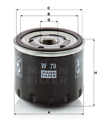 Filtre a huile MANN-FILTER W 79 (X1)