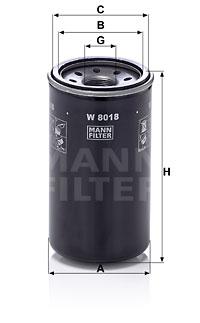 Filtre a huile MANN-FILTER W 8018 (X1)