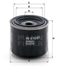 Filtre a huile MANN-FILTER W 811/81 (X1)