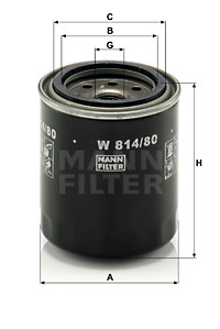 Filtre a huile MANN-FILTER W 814/80 (X1)