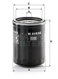 Filtre a huile MANN-FILTER W 815/82 (X1)