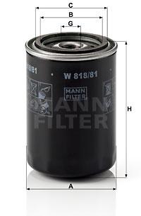 Filtre a huile MANN-FILTER W 818/81 (X1)