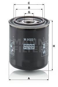 Filtre a huile de boite de vitesse MANN-FILTER W 9023/1 (X1)