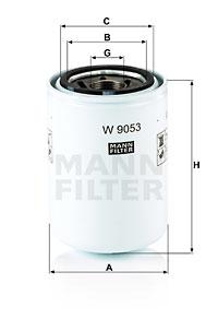 Filtre a huile de boite de vitesse MANN-FILTER W 9053 (X1)
