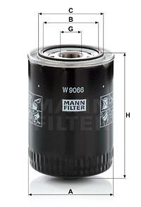 Filtre a huile MANN-FILTER W 9066 (X1)
