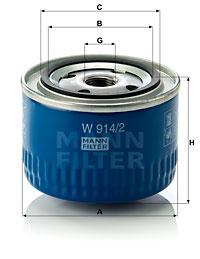 Filtration MANN-FILTER W 914/2 (X1)