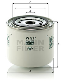 Filtration MANN-FILTER W 917 (X1)