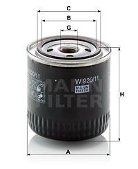 Filtre a huile MANN-FILTER W 920/11 (X1)