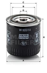 Filtre a huile MANN-FILTER W 920/14 (X1)