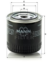 Filtre a huile MANN-FILTER W 920/17 (X1)