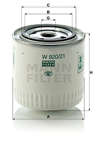 Filtre a huile MANN-FILTER W 920/21 (X1)