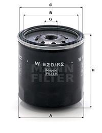 Filtre a huile MANN-FILTER W 920/82 (X1)