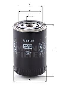 Filtration MANN-FILTER W 940/24 (X1)