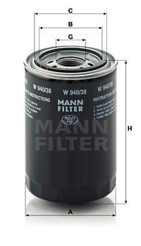 Filtration MANN-FILTER W 940/38 (X1)