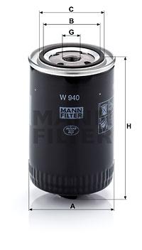 Filtration MANN-FILTER W 940 (X1)
