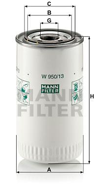 Filtration MANN-FILTER W 950/13 (X1)