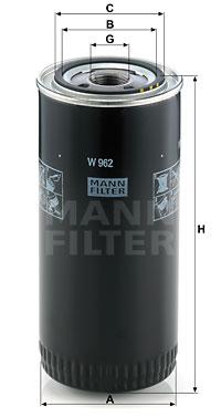 Filtration MANN-FILTER W 962 (X1)