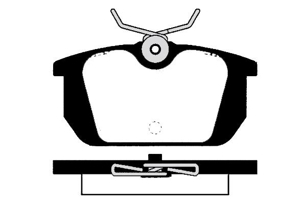 Plaquettes de frein arriere RAICAM RA.0321.0 (X1)