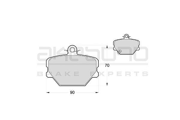 Plaquettes de frein avant AKEBONO AN-4012WK (X1)