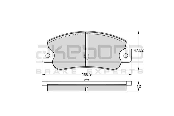 Plaquettes de frein arriere AKEBONO AN-4192K (X1)