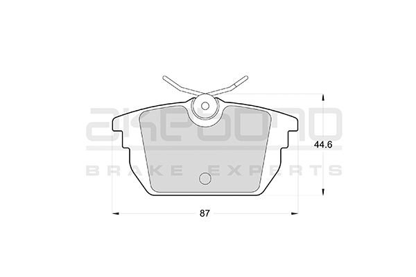 Plaquettes de frein arriere AKEBONO AN-4255K (X1)