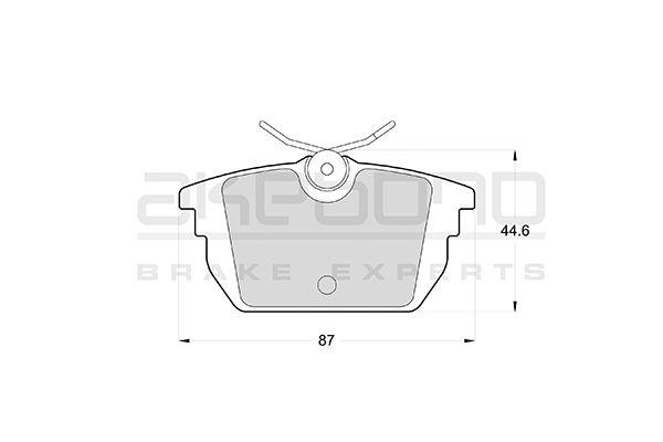 Plaquettes de frein arriere AKEBONO AN-4255KE (X1)