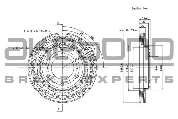 2 pièces Disque de frein TRISCAN 8120 42138