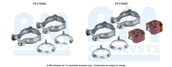Kit de montage d'echappement BM CATALYSTS FK11055 (X1)