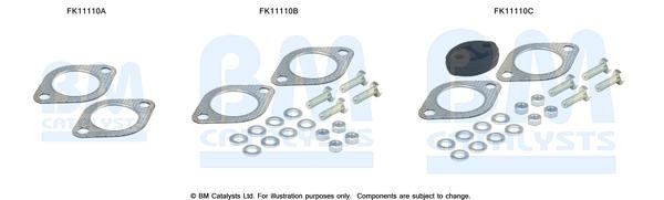 Kit de montage d'echappement BM CATALYSTS FK11110 (X1)