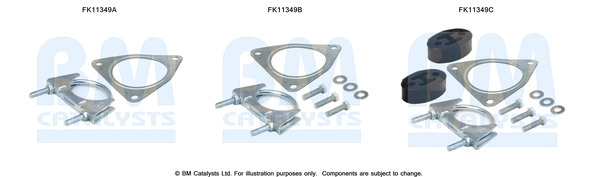 Kit de montage d'echappement BM CATALYSTS FK11349 (X1)