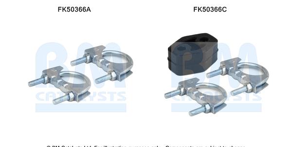 Kit de montage d'echappement BM CATALYSTS FK50366 (X1)