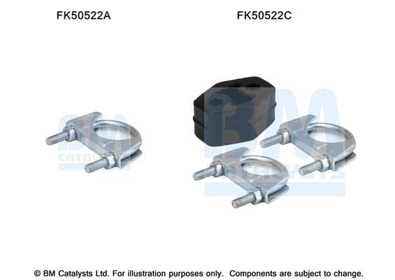 Kit de montage d'echappement BM CATALYSTS FK50522 (X1)