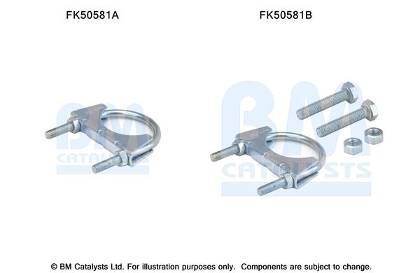 Kit de montage d'echappement BM CATALYSTS FK50581 (X1)
