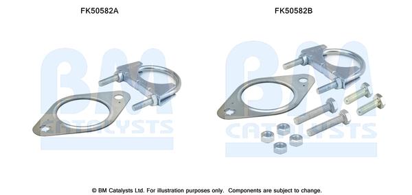 Kit de montage d'echappement BM CATALYSTS FK50582 (X1)