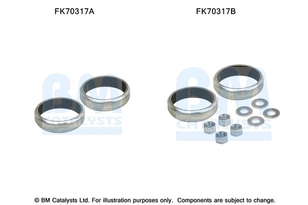 Kit de montage d'echappement BM CATALYSTS FK70317 (X1)