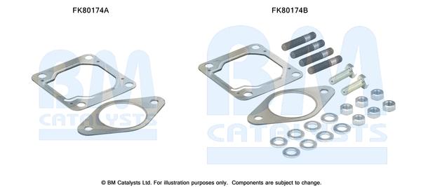 Kit de montage d'echappement BM CATALYSTS FK80174 (X1)