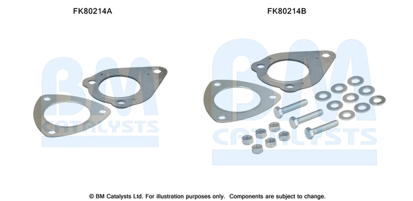 Kit de montage d'echappement BM CATALYSTS FK80214 (X1)